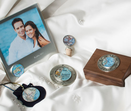 Wedding Gifts Customized to Any Location to the World
